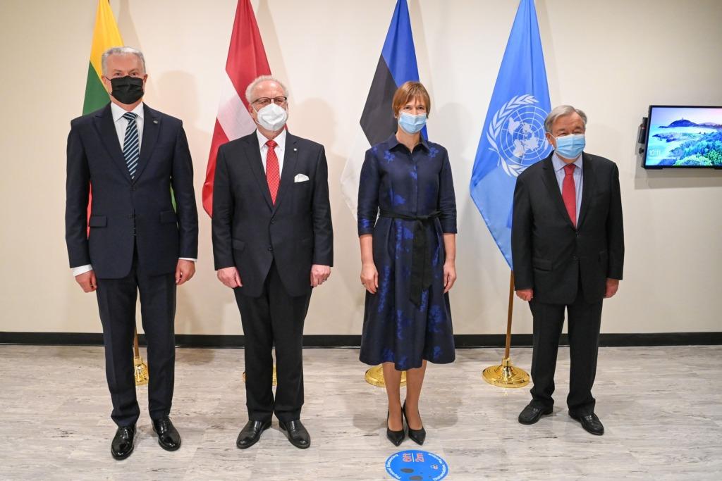 President ÜRO peasekretäri ja Balti kolleegidega
